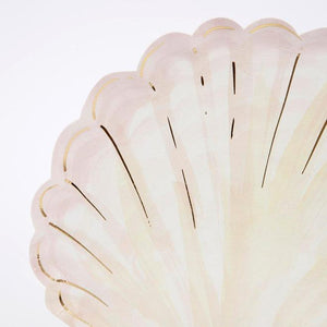 Watercolor Clam Shell Plates