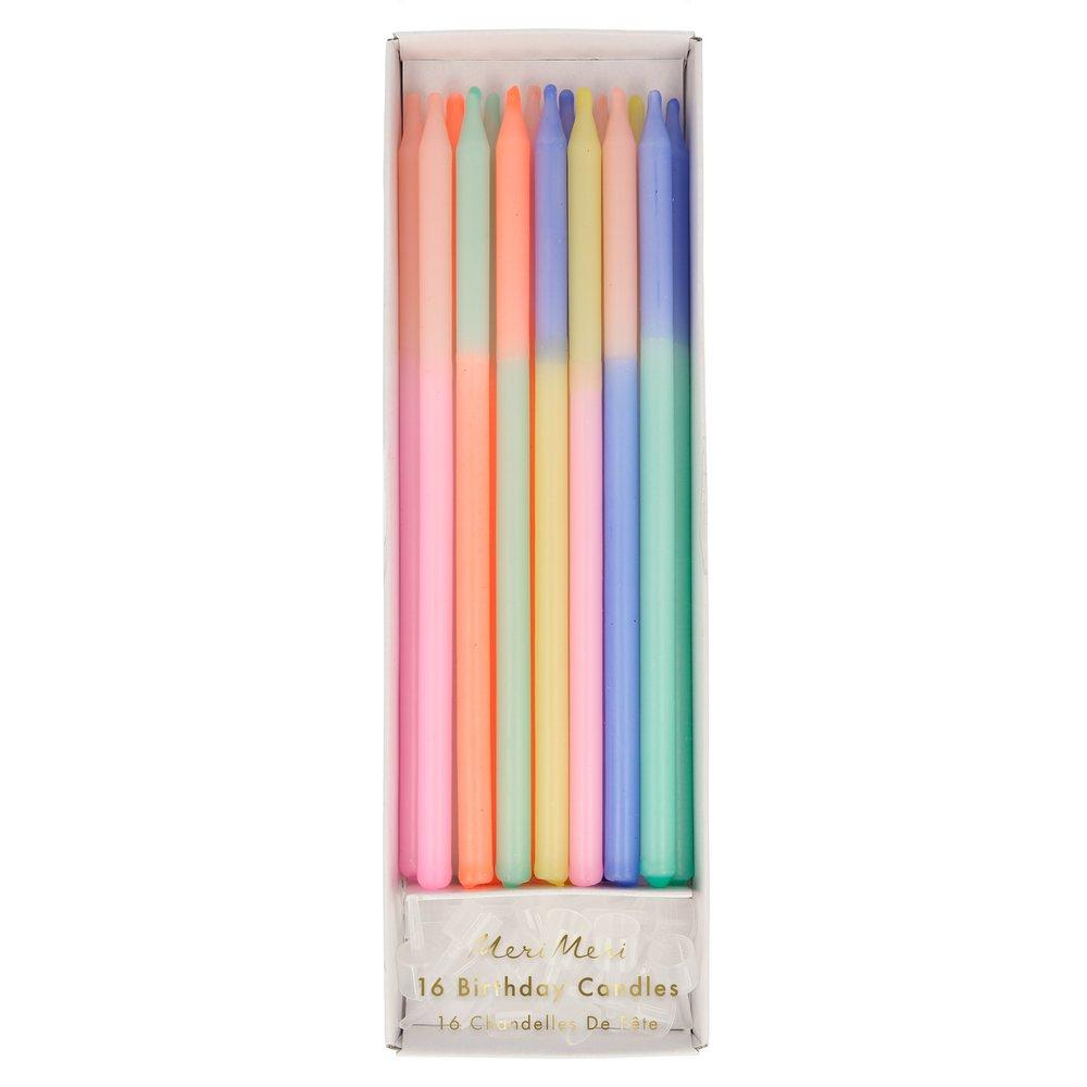 Multi Colour Block Candles
