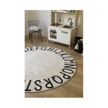 Alfombra lavable Round ABC Natural-Negro/Natural-Black