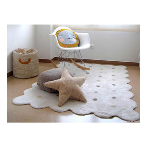 Alfombra Lavable Biscuit Blanco