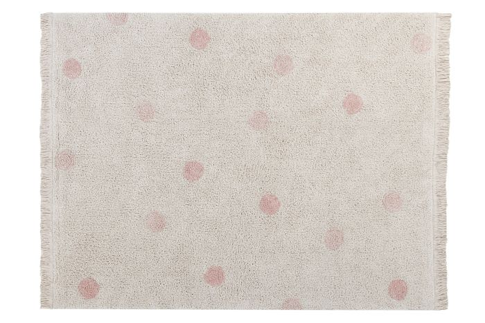 Alfombra Lavable Hippy Dots Natural - Vintage Nude