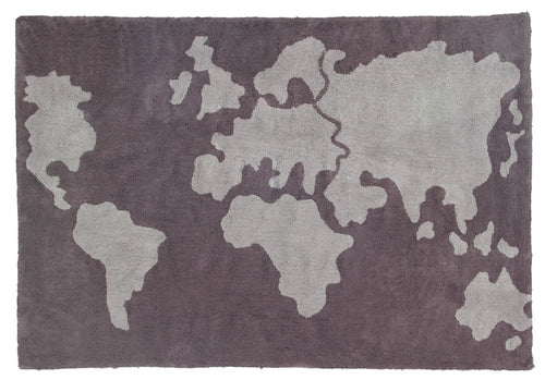 Alfombra lavable Mapamundi/World Map