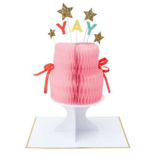 Yay! Cake Stand-Up Card