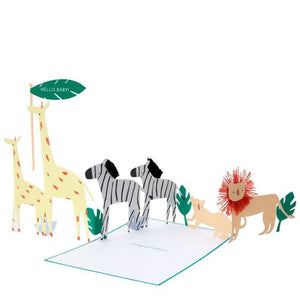 Safari Baby Concertina Card