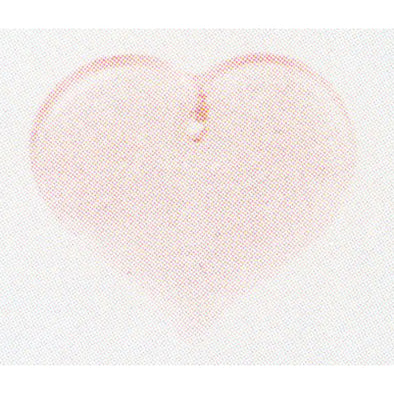 Beads 12182 Heart Pale Rose