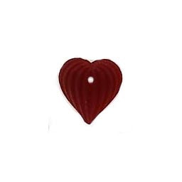 Beads 12207 Heart Fluted Ruby