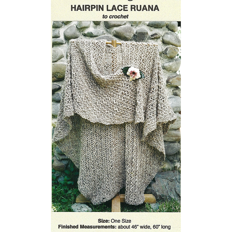 Ocph607 Hairpin Lace Ruana Knitting Time