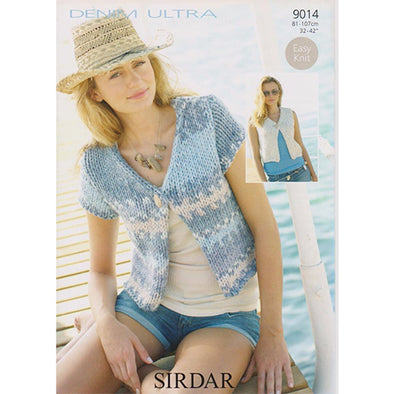 Sirdar 9014 Denim Ultra Knit Cardigan