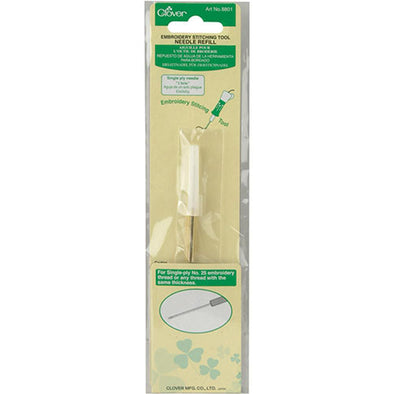 Clover 8801 Embroidery Tool Needle Refill - single ply
