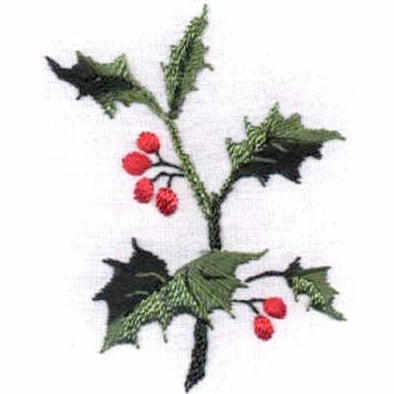 JDR188 Holly & Berries 10X10