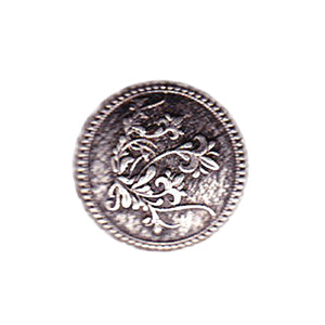 Button 152073 FloralSilver19mm