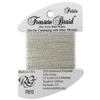 Petit Treasure Braid 10 White Pearl