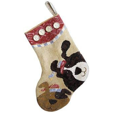Sam Sarah Design 9030 Puppy Stocking