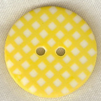 Button STBTGR1 Yellow Gingham