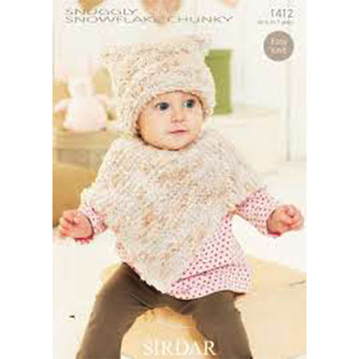 SIR1412 Snowflake Chunky Cape and Cap