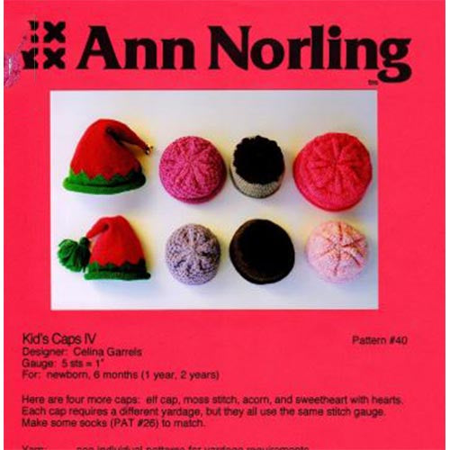 Ann Norling Kids Caps IV