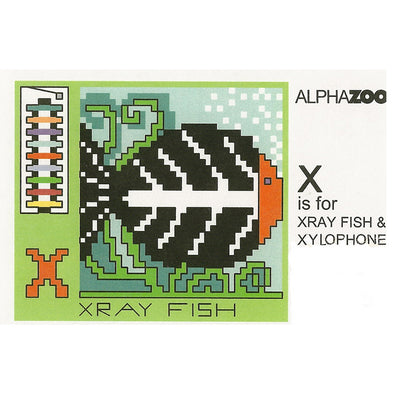 ABDAZX X is for Xray fish Xylo