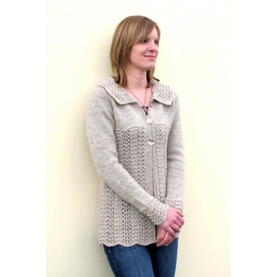 Knitting Pure & Simple 1307 Easy Lace Cardigan
