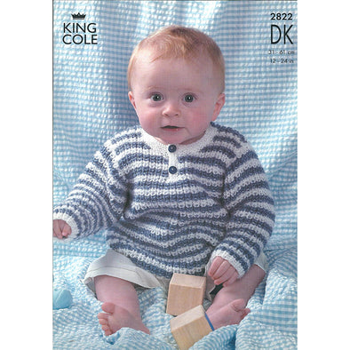 King Cole 2822 DK Baby Cardigan