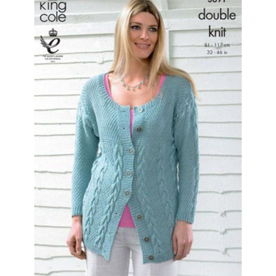 King Cole 3691 DK Cardigan and Sweater