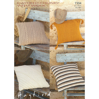 HAYFIELD 7304 Chunky with Wool Pillows