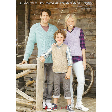 HAYFIELD 7250 Aran Sweater