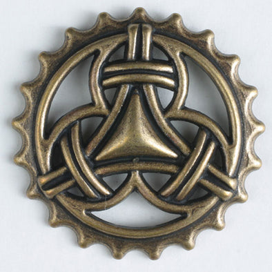 Button 260824 Celtic KnotMetal