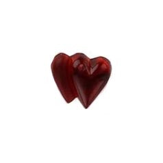 Beads 12097 Heart, Double Ruby