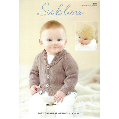SUB6117 Baby Cashmere Cardigan 4ply