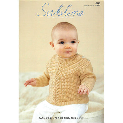 SUB6118 Baby Cashmere Sweater 4ply