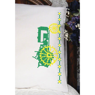 Fairway Needlecraft 83217 John Deere Tractor Pillowcase
