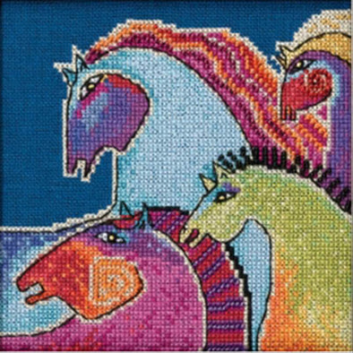 Laurel Burch 30-1715 Wild Horses -Linen