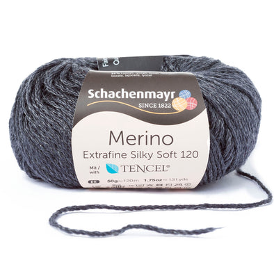 Merino Extrafine Silky Soft 120 0598 Dark Grey