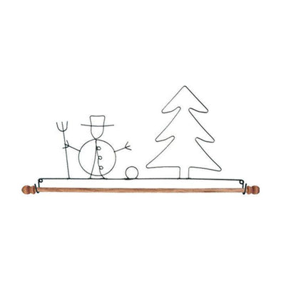 Bell Pull AM21157 Snowman 16 in