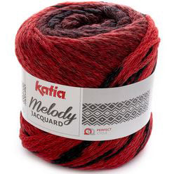 Melody Jacquard 254 Red Black