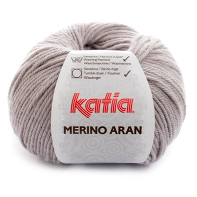 Merino Aran 12 Light Grey