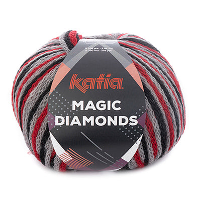 Magic Diamonds 53 Red-Grey-Blk