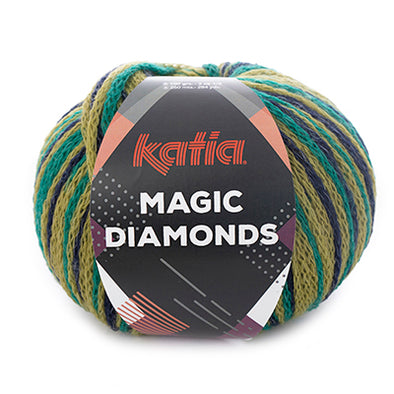 Magic Diamonds 57 Green_DkBlue