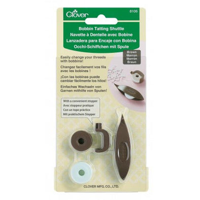 Tatting Shuttle and Bobbin Clover 8106