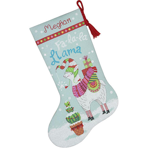 DIM70-08977 Llama Christmas Stocking
