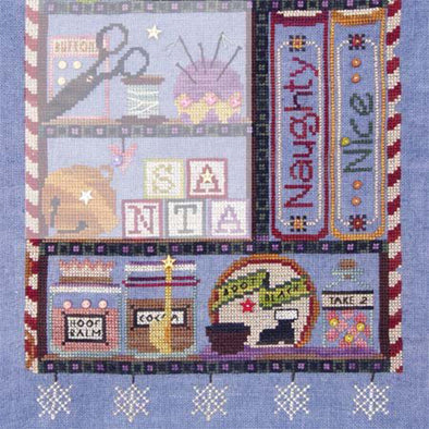 Sam Sarah Design 9132 Naughty or Nice Santas Cabinet