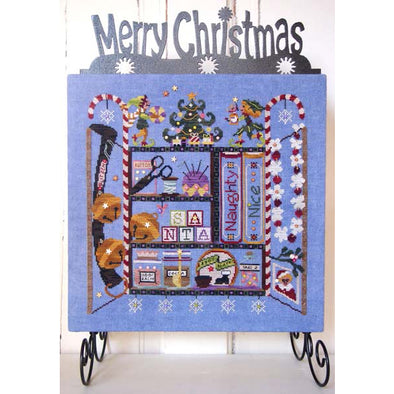 Sam Sarah Design 9134 Under the Mistletoe Santas Cabinet