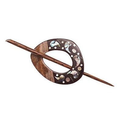 Shawl Pin 42804 Shell/Wood