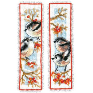 Vervaco PN0163595 Long Tailed Tit and Red Berries - Bookmarks