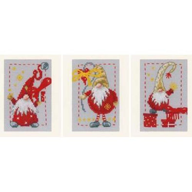 VERVACO PN085078 Christmas Gnomes Greeting Cards