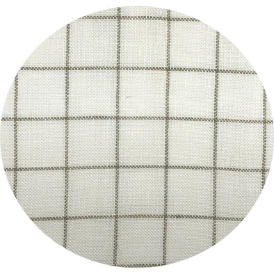 Linen 28ct 1029 Khaki grid on Antique White Small Pkg