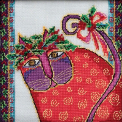 Laurel Burch 30-2015 Christmas Kitten