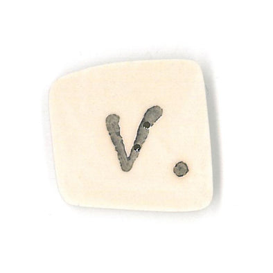 Just Another Button Company 0400.V  Letter V