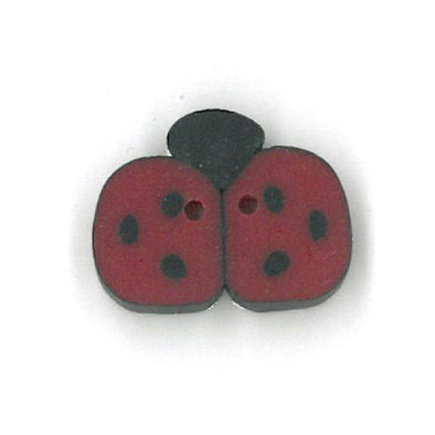 Just Another Button Company 1104S Small Red Ladybug
