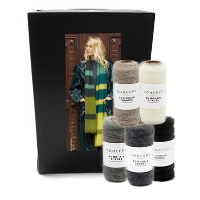 50 Mohair Shades Scarf KIT 1